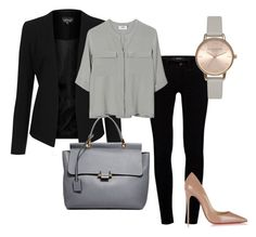 """""""Work attire"""" by ida3265 on Polyvore featuring J Brand, Christian Louboutin, Topshop, PYRUS, Lanvin and Olivia Burton"""