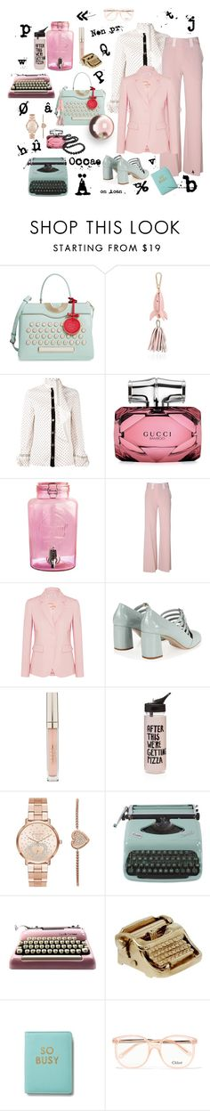 """The secretary"" by juliabachmann ❤ liked on Polyvore featuring Kate Spade, Karen Walker, Philosophy di Lorenzo Serafini, Gucci, Kilner, See by Chloé, Altuzarra, Miu Miu, Stila and ban.do"