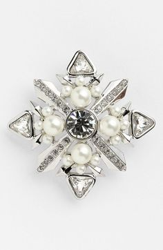 Givenchy Faux Pearl & Crystal Pin   Nordstrom