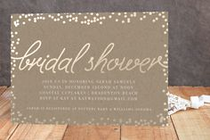 Starlight Foil-Pressed Bridal Shower Invitations by Saltwater Designs at minted.com