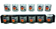 Valencia C.F. Estuche 6 Chupitos - Conjunto de 6 Chupitos Valencia C.F.
