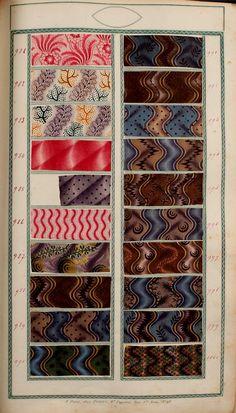 [Book of samples], Fortin, Paris, 1825 Old Quilts, Antique Quilts, Vintage Textiles, Motifs Textiles, Textile Prints, Textile Design, Victorian Fabric Patterns, Vintage Colour Palette, Century Textiles