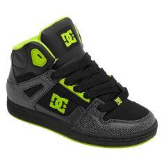 cfff1dff65dd5 DC Shoes Rebound SE youth black green flash 0gf chaussures montantes enfants  65€  dc