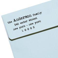 "CUSTOM ADDRESS STAMP - Eco Friendly & self inking, gifts for wedding, housewarming, etsy labels, return address - ""Name46"""