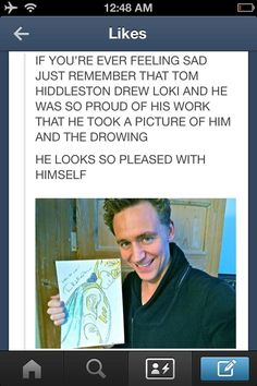 Tommy Hiddles….. You are so adorable….. <<< are we gonna ignore the fact that he can draw that well