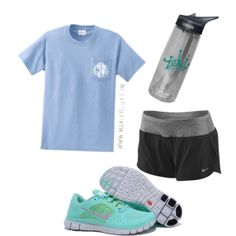 """Nike work out"" by ava-lindsey on Polyvore   tiffany free runs 3 ,tiffany blue nikes outfit for runner, all nike shoes for over 53% off"