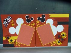 Disney   Premade Scrapbook Page by bcerdeiros on Etsy, $18.00