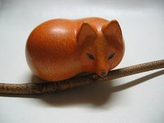 Absolutely adore this fox by Lisa Larson