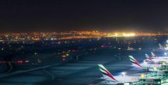 Night flight - DXB airport