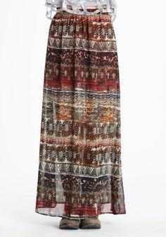 Tuscan Printed Maxi Skirt