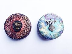Two Medicine Tins Angel and the Panther Magical by AUMBRATRIBE
