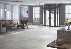 Expona Commercial luxury vinyl tile flooring - Frosted Marble