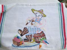 Embroidered vintage farmer