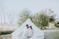 Bride & Groom Glamping Portraits | Winters, CA Wedding