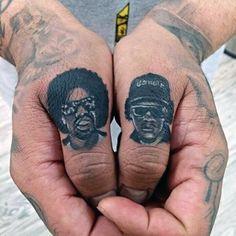 Music Legends Finger Tattoos Men