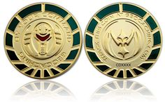 By Your Command Geocoin Satin Gold Green LE