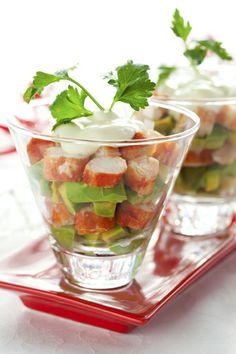 Cóctel de surimi y aguacate