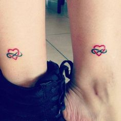 Infinity Heart Mother Daughter Tattoo