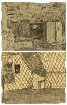 James Castle, Untitled (Double-Sided Drawing)
