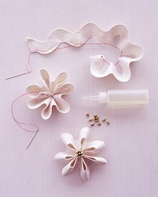 Rick rack flowers / Flores de sianinha