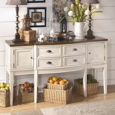White Buffet Table - Bernie And Phyls ladies locker room? Option