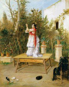 Manuel Cabral Aguado Bejarano. Bailando, 1889. Colección Carmen Thyssen-Bornemisza en préstamo gratuito al Museo Carmen Thyssen Málaga