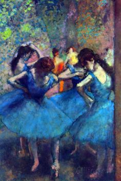 Edgar Degas Dancers Print by Edgar Degas at AllPosters.com