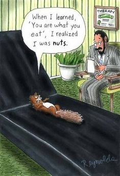Gardening Humor: This squirrel must be nuts.
