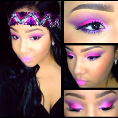Pink & Purple! Inspired by my headband.