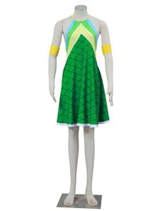 Fairy Tail Wendy Marvell Halloween Cosplay Costume Green Dragon Scales Version