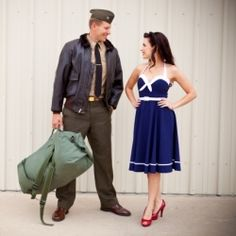 Looking for vintage military engagement session inspiration? This pin-up meets military session is perfect for YOU then! Military Pins, Military Wedding, Military Love, Military Spouse, Couple Photography, Engagement Photography, Photography Ideas, Modeling Photography, Vintage Photography
