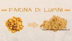 La farina di lupini è ricca di proteine e fibre, si può usare insieme ad altre farine per pane, pasta e dolci. Non contiene glutine. Ottima per addensare.