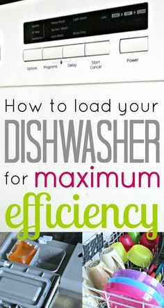 How to load your Dishwasher for Maximum Efficiency!   TheProjectPile.com