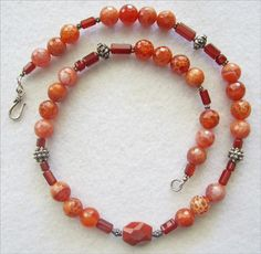 Carnelian & Fire Agate Necklace - pinned by pin4etsy.com