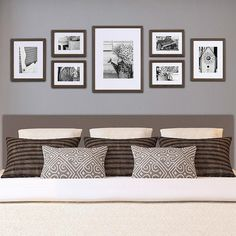 Wall picture frames for bedroom wall frame ideas photo frame set for wall gallery wall frame . wall picture frames for bedroom Photowall Ideas, My New Room, Frames On Wall, Wall Collage, Collage Ideas, Art Ideas, Wood Frames, Photo Collage Frames, Wall Frame Layout