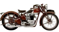 Old Triumph Speed Twin Motorcycle