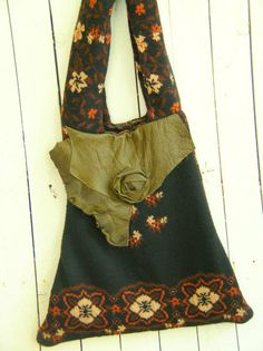 One of a Kind Bohemian Gypsy Sweater and Leather by JacketsbyJahne, $99.00