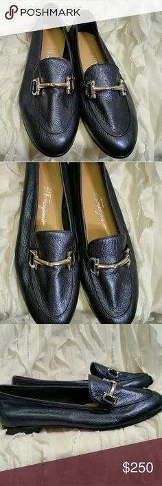 SALVATORE FERRAGAMO LOAFERS Blue leather Ferragamo loafers. Excellent pre owned condition. Any questions just ask! :) Ferragamo Shoes Flats & Loafers