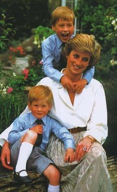 Prince Harry. Prince William. Princess Diana
