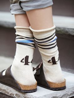 Free People 44 Touchdown Mid Sock at Free People Clothing Boutique