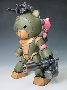 1:144 sci-fi scale model, Gundam Beargguy F (Family), by Ryo 1981. Pinned by #relicmodels