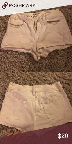 High rise shorts Pac sun super soft and stretchy high rise white shorts. No signs of damage in good condition PacSun Shorts