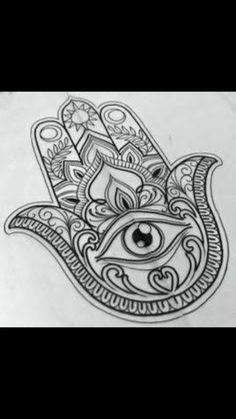 Hamsa Hand Tattoo, Dotwork Tattoo Mandala, Hamsa Tattoo Design, Tattoo Designs, Fatima Hand Tattoos, Hamsa Design, Small Hamsa Tattoo, Mandala Design, Hamsa Tattoo Meaning