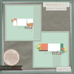 Blocked In v. 1 by Moments of Harmony: $1.50 @ browniescraps.com