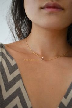 Sideways Initial Necklace by amarilo on Etsy, $68.00....someone please get me it