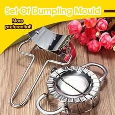 Set Of Dumpling Mould HOT SELLING! BUY 3 GET OFF CODE: This is a set of home kitchen dumpling machines and peelers that fill, fold and press down on a perfect dumpling. Cool Kitchen Gadgets, Kitchen Items, Cool Kitchens, Kitchen Dining, Family Kitchen, Cooking Gadgets, Cooking Tools, Cooking Recipes, Cooking Utensils