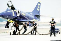 Douglas A-4F Skyhawk - Blue Angels, United States Navy (USN), United States.