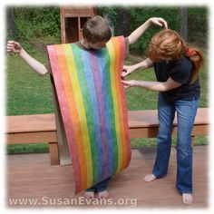 Joseph's coat of many colors craft. Uses brown paper, like for packaging.