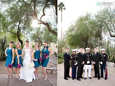 The bridal party posing up a storm at JW  Marriott Camelback Resort & Spa. Credit: Cristi Owen Photography