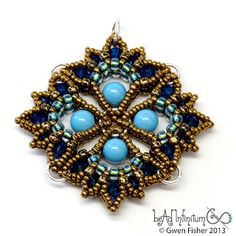 Lotus Drop Pendants by gwenbeads. Lots of combinations to see on the blog.